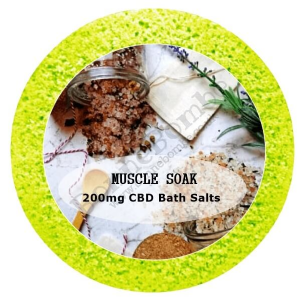 Muscle Soak Essential Oil Aromatherapy Mineral Bath Salt Soak with 200mg CBD